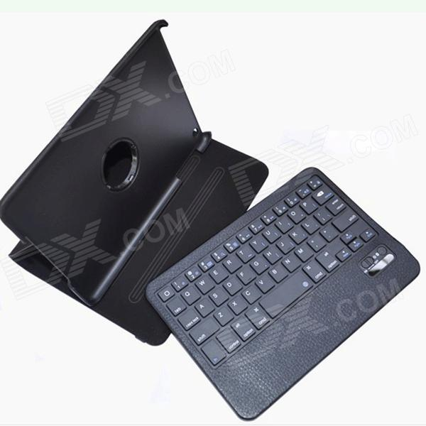 BK998 Bluetooth V3.0 59-Key Keyboard w/ Protective PU Leather Case for Ipad MINI - Black
