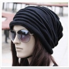 Fashionable Knitting Wool Hat for Women - Black