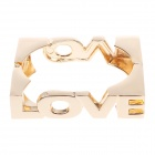 Fashionable Simple Square LOVE Style Zinc Alloy Bracelet - Golden