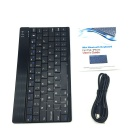 Mini Bluetooth V3.0 Ultra-thin 80-Key Keyboard för Ipad / Ipad 2 / Tablet PC / Smartphone - Svart