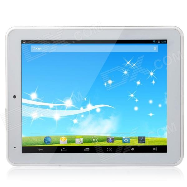TOP808 8 Android 4.4 Quad Core Tablet PC w/ 1GB RAM, 8GB ROM, TF, Wi-Fi, HDMI - Silver sosoon x88 quad core 8 ips android 4 4 tablet pc w 1gb ram 8gb rom hdmi gps bluetooth white