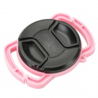 Anti-Lost Camera Accessory Buckle for 40.5mm / 49mm / 62mm Lens Cap - Pink