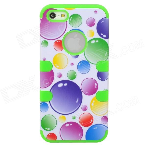 Bubbles Style Protective ABS + Silicone Case for Iphone 5 - Green + Purple + Blue чехол клип кейс redline ibox blaze для samsung galaxy j1 2016 золотистый [ут000009693]
