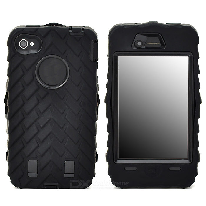 все цены на Detachable Protective Silicone + PC Case for Iphone 4 / 4S - Black онлайн