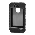 Desmontable Protector Silicona + Funda para PC para Iphone 4 / 4S - Negro