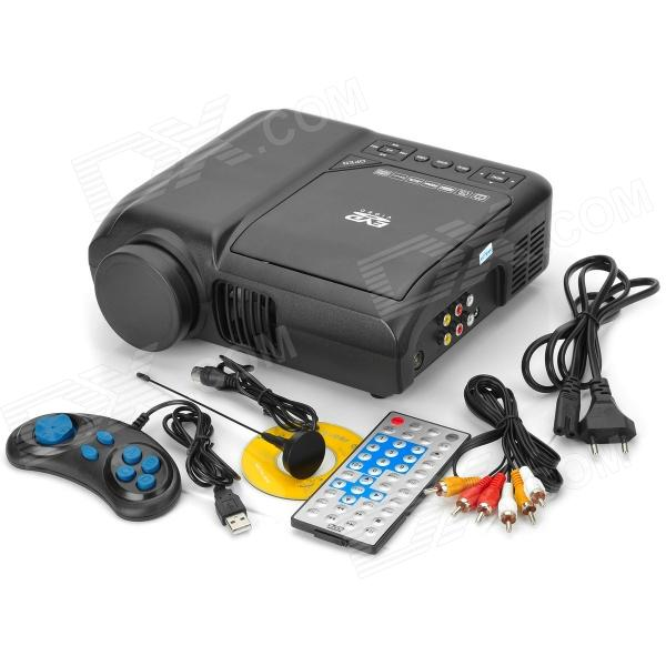 Portable dvd player home theater projector black free for Best portable projector for home theater