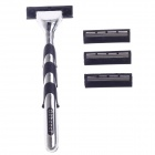 G-288 Multi-Function Body Hair Manual Shaver Razor - Black + Silver