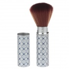 High Quality Nail Dusting Brush - Silver + Brown