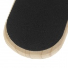 Wood Doudble-Sided Feet Care File Exfoliator - Burlywood + Brown + Black