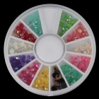 Decorative 12-Color Nail Art Jelly Drill Kit - Multicolored