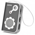 SAYIN SY-771 AM/FM Radio w/ Built-in Speaker - Black + Silvery White