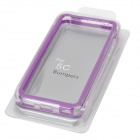 Stylish Protective ABS + Silicone Bumper Frame for Iphone 5C - Purple + Transparent