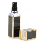 Fashion Portable Glass Perfume Spray Bottle - Black + Golden (7.5ML)