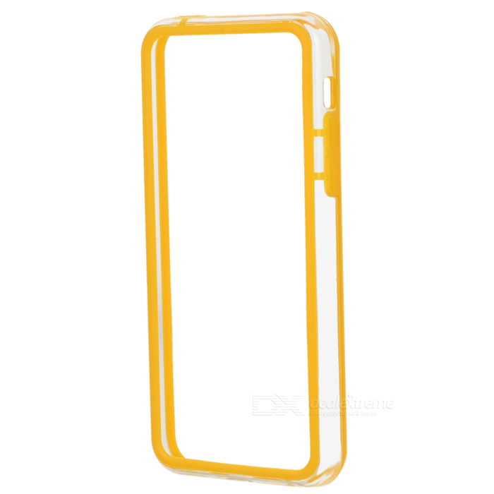 Stylish Protective ABS + Silicone Bumper Frame for Iphone 5C - Yellow + Transparent