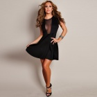 LC2752-2 Fashionable Women's Leisure Georgette Dress - Black (Free Size)