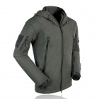 ESDY ESDY-0001 Outdoor Sports Waterproof Polyester + Fleece Jacket for Men - Deep Grey (XL)