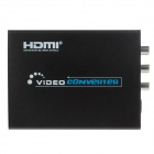PD-009 HDMI to Composite / S-Video Converter Adapter - Black (2-Flat-Pin Plug / Cable-112cm)