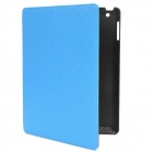 Multi-Function PU Leather Case w/ Auto Sleep / Vent-Hole / Sound Amplifier for Ipad 2/3/4 - Blue
