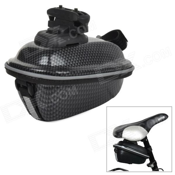 BIV V08 Cycling Ultrathin Hard ABS Bike Saddle Storage Bag w/ Mount - Black conifer v06 bike saddle bag hard abs bike seat bags waterproof fall resistant