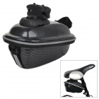 BIV V08 Cycling Ultrathin Hard ABS Bike Saddle Storage Bag w/ Mount - Black