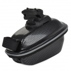BIV V08 Ciclismo Ultrathin rígido ABS bicicleta Saddle Storage Bag w / Mount - Preto