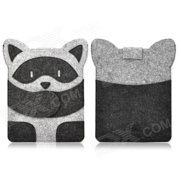 Cute Raccoon Style Protective Inner Bag Pouch for Ipad 2 / 3 / 4 - Grey + Black radiation proof protective inner pouch bag for ipad tablet pc camouflage green