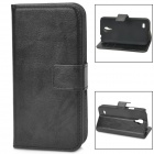 Protective PU Leather Case for Samsung Galaxy S4 Mini i9190 - Black