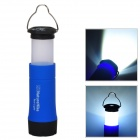 Naturehike BDYDD Outdoor 3W 3-Mode LED Zooming Flashlight / Camping Lamp - Black + Blue (3 x AAA)