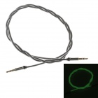 3.5mm Male to Male Glow-in-the-Dark Green Light Audio Extender Cable - Black (100cm)