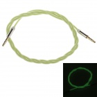 3.5mm Male to Male Glow-in-the-Dark Audio Extender Cable - Light Green (100cm)