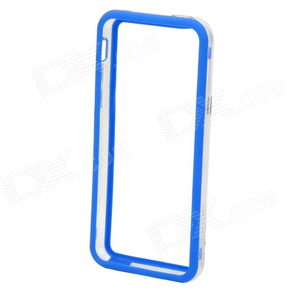 Stylish Protective ABS + Silicone Bumper Frame for Iphone 5C - Blue + Transparent stylish protective bumper frame case for iphone 4 4s dark blue