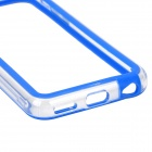 Stylish Protective ABS + Silicone Bumper Frame for Iphone 5C - Blue + Transparent