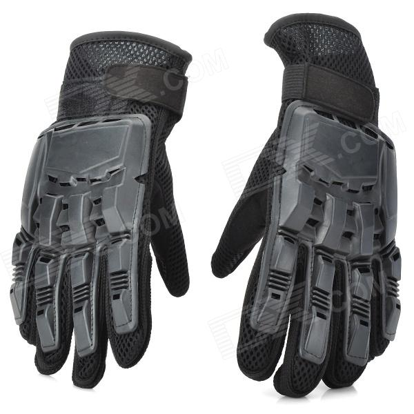 SW3080 Outdoor Sports Full Fingers Tactical Gloves - Black (Pair / Size M)
