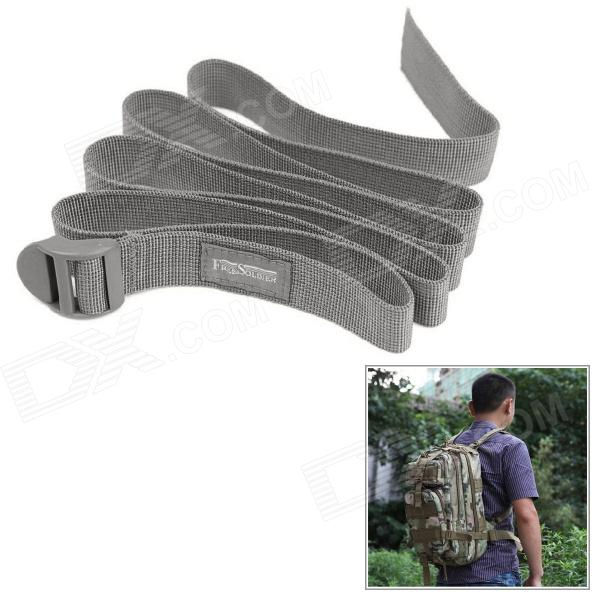 Free Soldier Outdoor Emergency Strapping / Knapsack Belt / Strap - Grey sgs elexcellent pp strap strapping tape banding tape