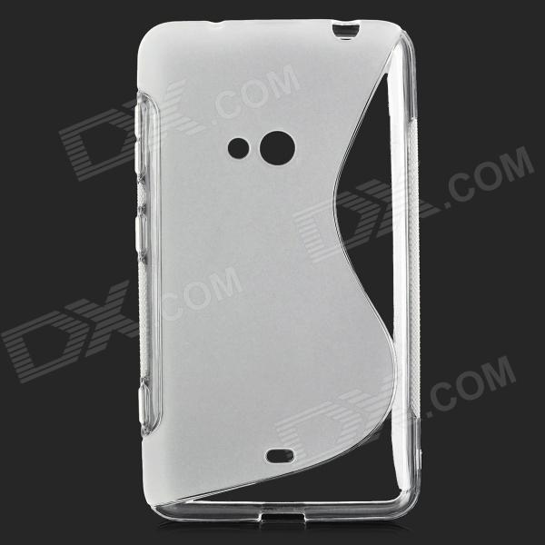 S-shape Protective TPU Back Case for Nokia Lumia 625 - Translucent White