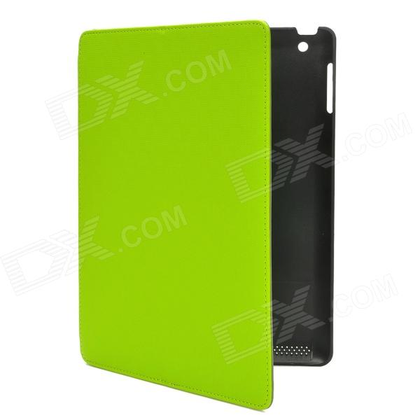 Multi-Function PU Leather Case w/ Auto Sleep / Vent-Hole / Sound Amplifier for Ipad 2/3/4 - Green multi function pu leather case vent holes sound amplifier for ipad 3 4 orange