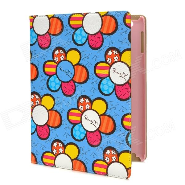 Cartoon Sunflower Style Protective PU Leather + TPU Case for Ipad 3 / 4 - Multicolor - DXCases for Ipad<br>Brand N/A Quantity 1 Piece Color Multicolor Material PU leather + TPU Compatible Models The New Ipad / Ipad 4 Auto Wake-up / Sleep NO Other Features Protects your device from scratches dust and shock Packing List 1 x Protective case<br>