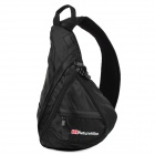 Naturehike Outdoor Sports Triangular Shape Messenger Shoulder Bag - Black