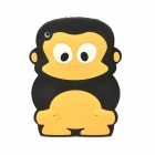 Cute Monkey Style Protective Silicone Back Case for Ipad MINI - Black