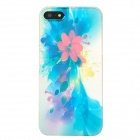 Oil Painting Flower Style Protective Plastic Back Case for Iphone 5 - Red + Blue + Yellow + Purple