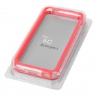 Stylish Protective ABS + Silicone Bumper Frame for Iphone 5C - Red + Transparent
