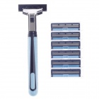 APACH A346-4 Multi-Function Body Hair Manual Shaver Razor - Blue + Black + Silver