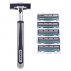 JIXIANG JX-6 Multi-Function Body Hair Manual Shaver Razor - Black + Silver + Grey