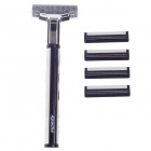 Apache A207-2 Multi-Function Body Hair Manual Shaver Razor - Black + Silver