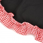 T54648 Fashionable Bow Kitchen Cooking Cotton Apron - Red + Black