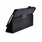 Lichee Pattern Protective PU Leather Case Stand w/ Auto Sleep Cover for Google Nexus 7 II - Black