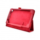 Lichee Pattern Protective PU Leather Case Stand w/ Auto Sleep Cover for Google Nexus 7 II - Red