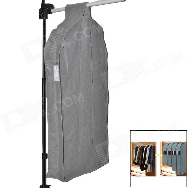 65054 Large Folding Bamboo Fiber Non-woven Fabric Clothes Storage Bag - Grey