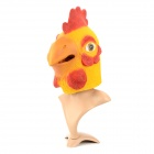 A-056 Funny Rooster Head Latex Headgear for Halloween / Christmas /  Costume Ball - Red + Yellow