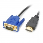 JJBY 3D HDMI 1.4 macho a VGA macho Display Cable (450cm)